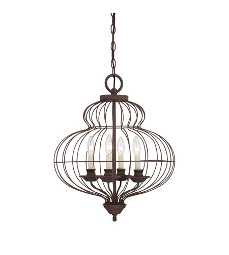 Quoizel Lighting Laila 4 Light Chandelier in Rustic Antique Bronze LLA5204RA photo
