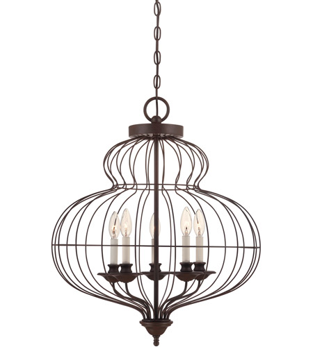 Quoizel Lighting Laila 5 Light Chandelier in Rustic Antique Bronze LLA5205RA photo