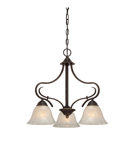 Quoizel Lighting Lillian 3 Light Chandelier in Palladian Bronze LLN5103PN photo
