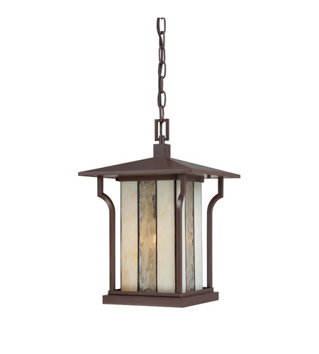 Quoizel Lighting Langston 1 Light Outdoor Hanging Lantern in Chocolate Bronze LNG1911CHB photo