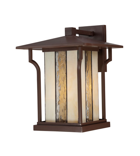 Quoizel Lighting Langston 1 Light Outdoor Wall Lantern in Chocolate Bronze LNG8411CHB photo