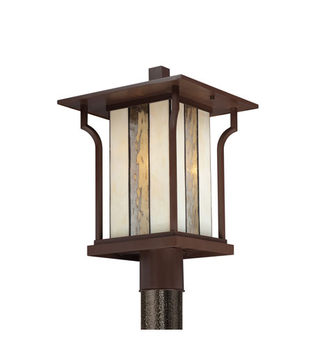 Quoizel Lighting Langston 1 Light Outdoor Post Lantern in Chocolate Bronze LNG9011CHB photo