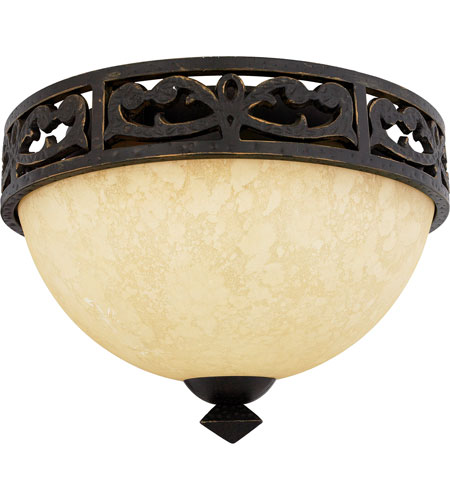 Quoizel Lighting La Parra 2 Light Flush Mount in Imperial Bronze LP1614IB photo