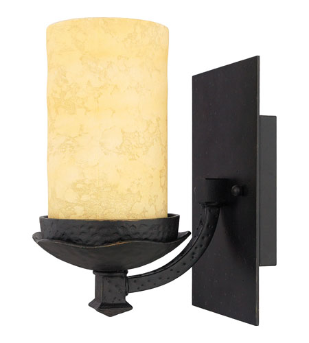 Quoizel lp8601ib la parra 1 light 7 inch imperial bronze for Z gallerie bathroom lights