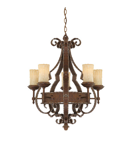 Quoizel Laredo 5 Light Chandelier in Rustic Bronze LR5005RZ photo