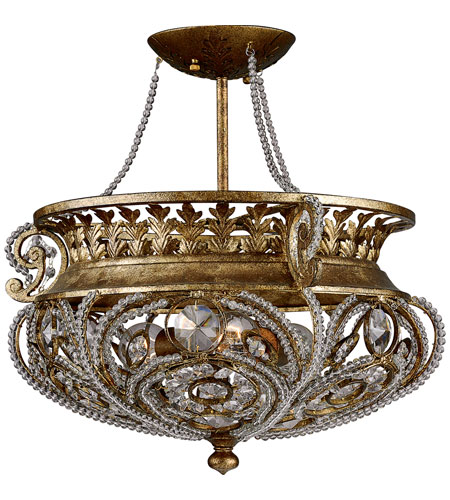 Quoizel Lighting La Crysta 3 Light Semi-Flush Mount in Gold Finch LS1814GF  sc 1 st  Quoizel Lighting Lights & Quoizel Lighting La Crysta 3 Light Semi-Flush Mount in Gold Finch ...