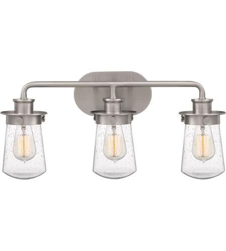 Quoizel LWN8603BN Lewiston 3 Light 22 inch Brushed Nickel Bath Light Wall Light, Large