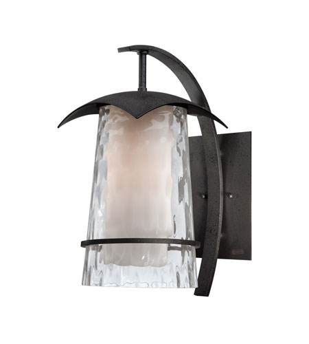 Quoizel Lighting Mayfair 1 Light Outdoor Wall Lantern in Iron Age MAF8409IR photo