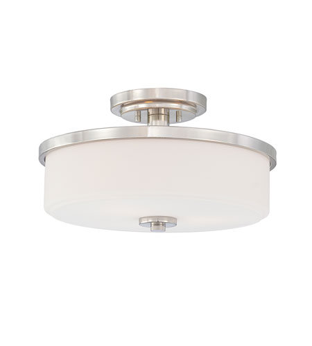 Quoizel Lighting Massena 3 Light Semi-Flush Mount in Imperial Silver MAS1716IS photo