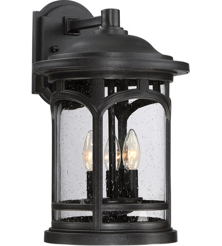 Quoizel MBH8411K Marblehead 3 Light 18 inch Mystic Black Outdoor Wall Lantern photo