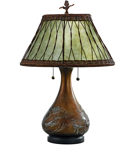 Quoizel MC120T Mica 25 inch 60 watt Bronze Table Lamp Portable Light, Naturals photo