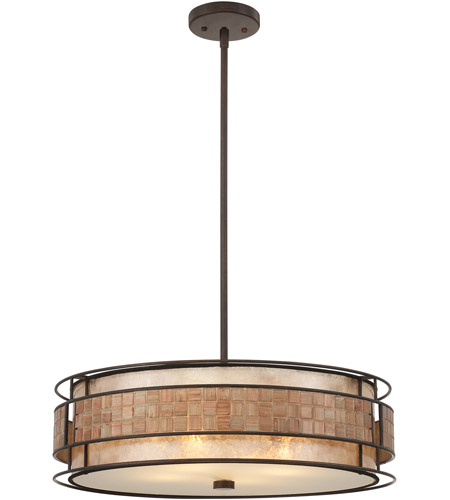Quoizel MC8420CRC Laguna 4 Light 22 inch Renaissance Copper Pendant Ceiling Light, Naturals photo