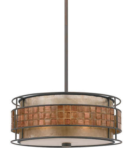 Quoizel MC842CRC Laguna 3 Light 16 inch Renaissance Copper Pendant Ceiling Light, Naturals photo