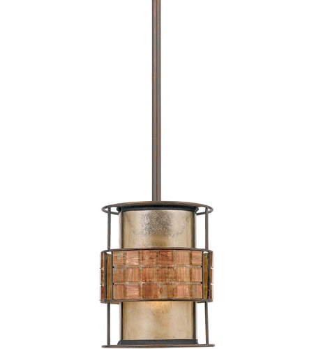 Quoizel Lighting Laguna 1 Light Mini Pendant in Renaissance Copper MC842PRC photo