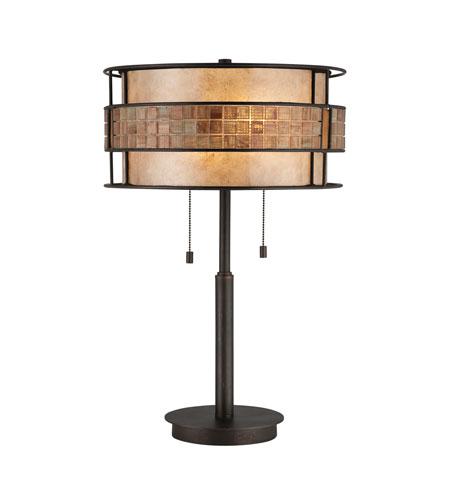 Quoizel Lighting Laguna 2 Light Table Lamp in Renaissance Copper MC842TRC photo