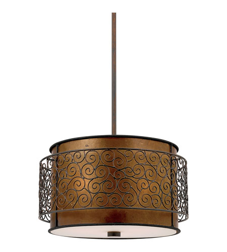 Quoizel Lighting Mica 3 Light Pendant in Renaissance Copper MC843CRC photo