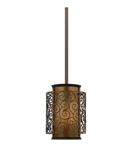 Quoizel Lighting Mica 1 Light Mini Pendant in Renaissance Copper MC843PRC photo