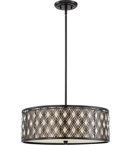 Quoizel mcbq2822k boutique 4 light 22 inch mystic black pendant ceiling light naturals photo