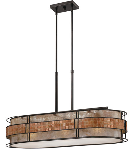 Quoizel MCLG337RC Laguna 3 Light 37 inch Renaissance Copper Island Light Ceiling Light, Naturals photo