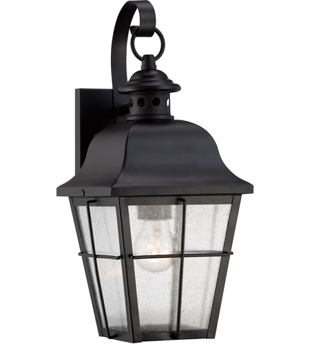 Quoizel MHE8406K Millhouse 1 Light 16 inch Mystic Black Outdoor Wall Lantern photo