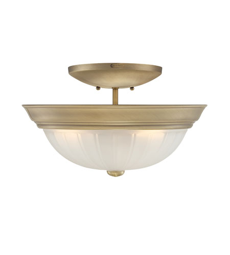 Quoizel Lighting Melon 3 Light Semi-Flush Mount in Antique Brass ML1615A photo