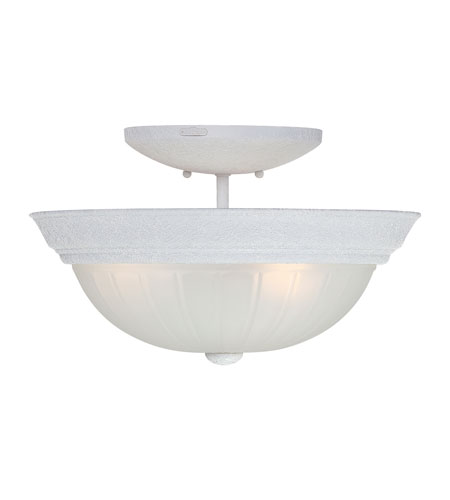 Quoizel Lighting Melon 3 Light Semi-Flush Mount in Fresco ML1615W photo