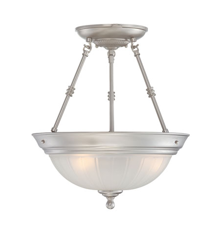 Quoizel Lighting Melon 3 Light Semi-Flush Mount in Empire Silver ML1715ES photo