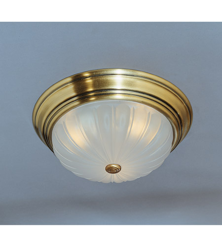 Quoizel Lighting Melon 3 Light Flush Mount in Antique Brass ML184A photo