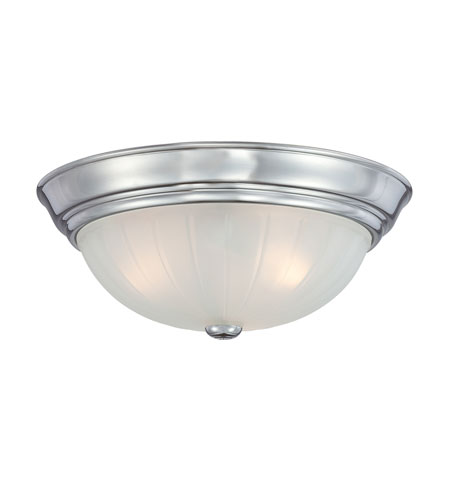 Quoizel Lighting Melon 3 Light Flush Mount in Polished Chrome ML184C photo