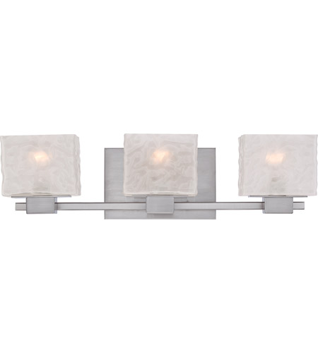 Quoizel Bathroom Vanity Lights : Quoizel Melody 3 Light Bath Light in Brushed Nickel MLD8603BN