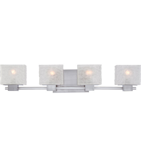 Quoizel Melody 4 Light Bath In, Modern Bathroom Light Fixtures Brushed Nickel