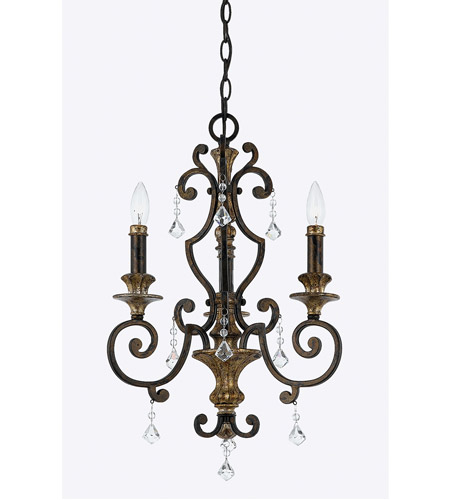 Quoizel MQ5003HL Marquette 3 Light 17 inch Heirloom Mini Chandelier Ceiling Light  photo