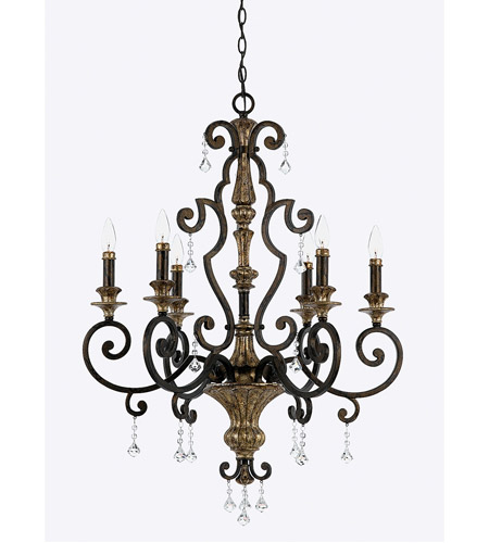 Quoizel MQ5006HL Marquette 6 Light 28 inch Heirloom Chandelier Ceiling Light photo
