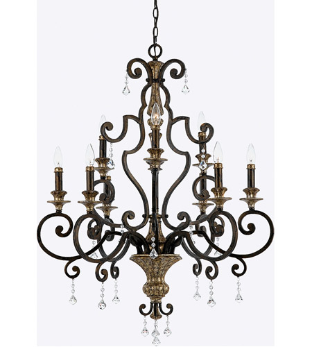Quoizel MQ5009HL Marquette 9 Light 32 inch Heirloom Chandelier Ceiling Light photo