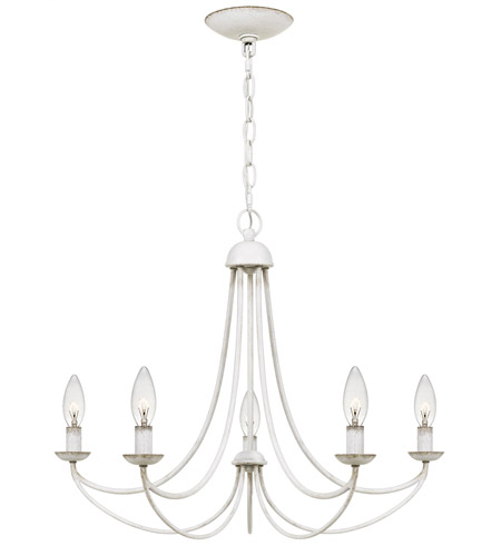 Quoizel MRN5005AWH Mirren 5 Light 21 inch Antique White Chandelier Ceiling Light photo