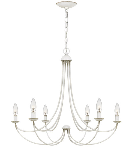 Quoizel MRN5006AWH Mirren 6 Light 28 inch Antique White Chandelier Ceiling Light photo