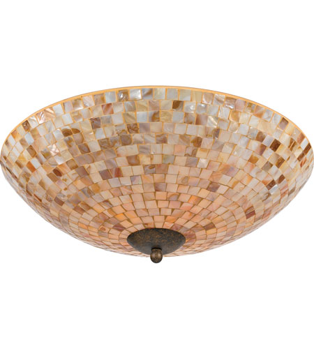 Quoizel MY1618ML Monterey Mosaic 4 Light 18 inch Malaga Flush Mount Ceiling Light photo