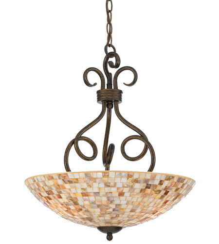 Quoizel MY2816ML Monterey Mosaic 3 Light 18 inch Malaga Pendant Ceiling Light photo