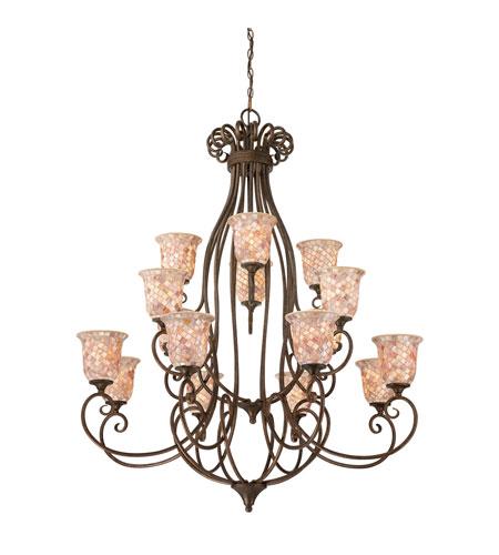 Quoizel Foyer Chandelier : Quoizel monterey mosaic light foyer chandelier in
