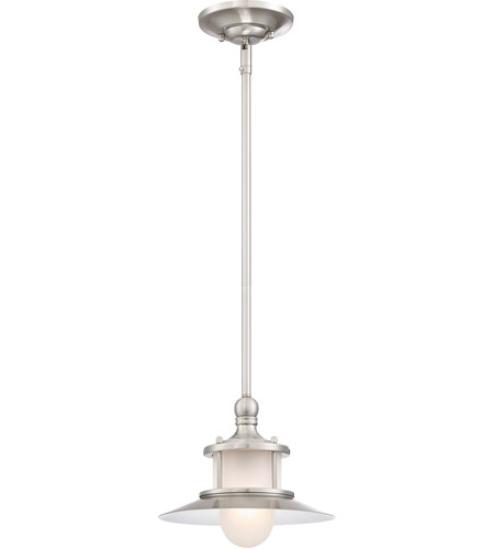 quoizel na1510bn new england 1 light 10 inch brushed nickel mini pendant ceiling light
