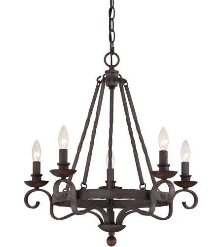 Light 24 Inch Rustic Black Chandelier