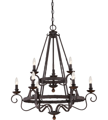 Rustic Foyer Chandelier : Quoizel nbe rk noble light inch rustic black foyer
