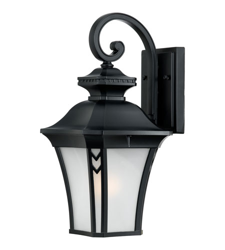 Quoizel Lighting Norfolk 1 Light Outdoor Wall Lantern in Mystic Black NF8408K photo