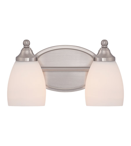 Quoizel ngt8602bn north gate 2 light 12 inch brushed for Z gallerie bathroom lights