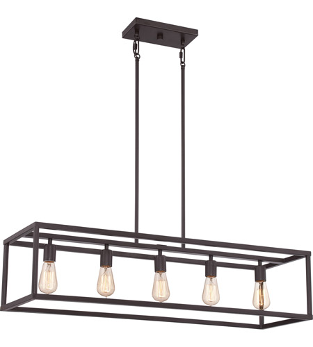Quoizel NHR538WT New Harbor 5 Light 38 inch Western Bronze Island – Quoizel Chandelier