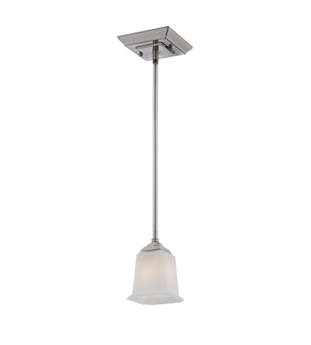 Quoizel Lighting Nicholas 1 Light Mini Pendant in Brushed Nickel NL1505BN photo