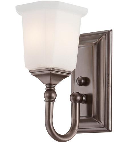 Quoizel nicholas 1 light bath light in harbor bronze nl8601ho for Quoizel bathroom lighting