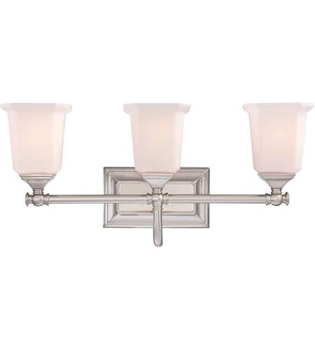 Bathroom Lighting Fixtures Brushed Nickel quoizel nl8603bn nicholas 3 light 22 inch brushed nickel bath