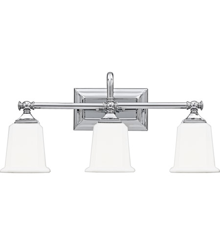 Quoizel Bathroom Vanity Lights : Quoizel NL8603C Nicholas 3 Light 22 inch Polished Chrome Bath Light Wall Light