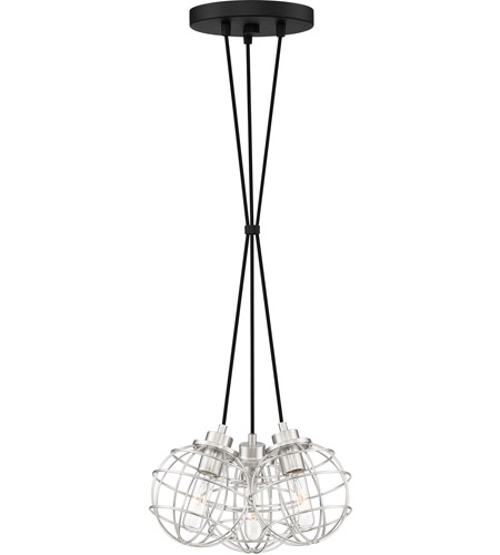 Quoizel NVG2603EK Navigator 3 Light 14 inch Earth Black Pendant Ceiling Light photo thumbnail